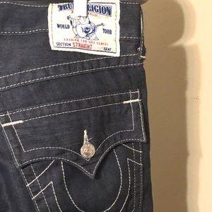 True Religion Dark Wash Straight Jeans